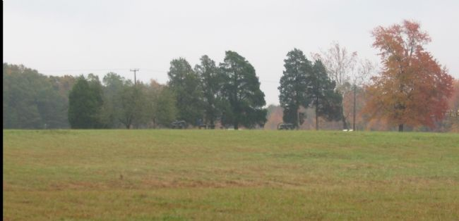 From the Marker Looking toward the Chancellorsville Inn Site image. Click for full size.