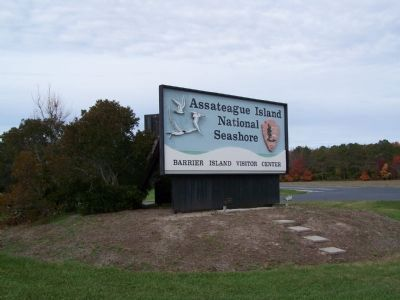 Assateague Visitor Center Sign Photo, Click for full size