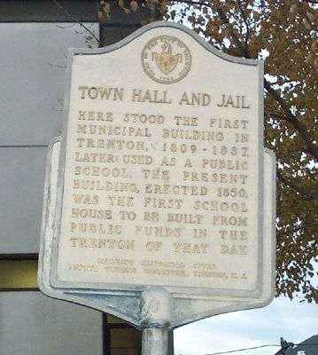 Town Hall and Jail Marker image. Click for full size.
