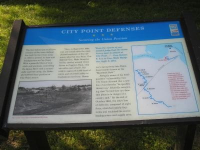 City Point Defenses  -  Securing the Union Position marker image. Click for full size.