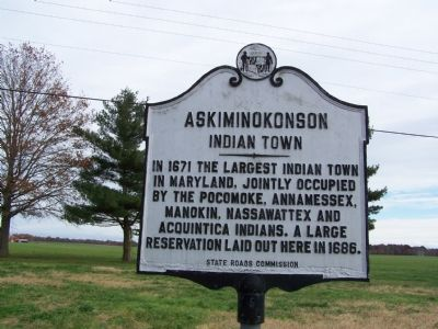 Askiminokonson Indian Town Marker Photo, Click for full size