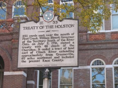Treaty of the Holston Marker image. Click for full size.