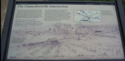 The Chancellorsville Intersection Marker image. Click for full size.