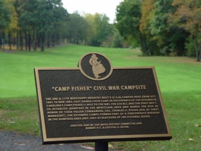 Camp Fisher II - Civil War Campsite Marker Photo, Click for full size