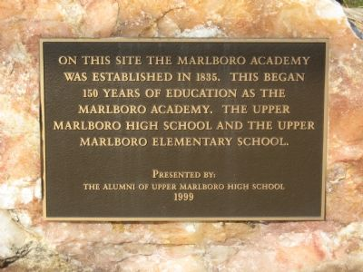 Marlboro Academy Marker Photo, Click for full size