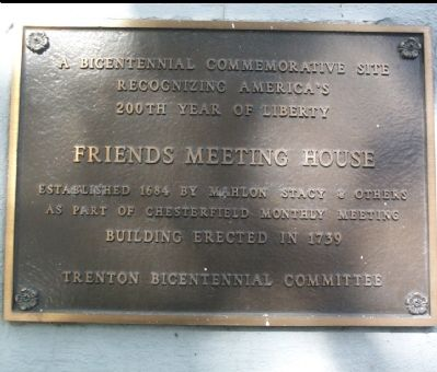 Friends Meeting House Marker image. Click for full size.