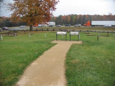 Markers Beside the Chancellorsville Inn Ruins image. Click for full size.