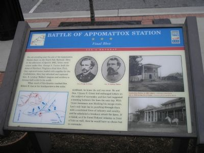 Battle of Appomattox Station marker Photo, Click for full size