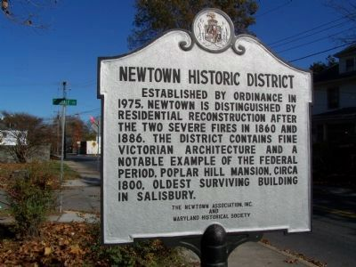 Newtown Historic District - Marker #2 image. Click for full size.