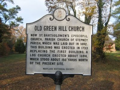 Old Green Hill Church Marker image. Click for full size.