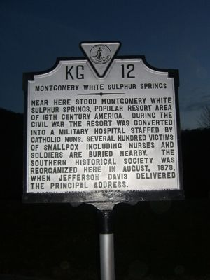 Montgomery White Sulphur Springs Marker Photo, Click for full size