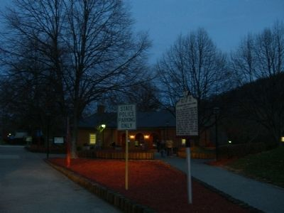 Night View of the Montgomery White Sulphur Springs Marker Photo, Click for full size