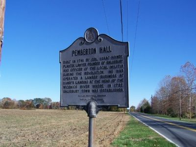 Pemberton Hall Marker image. Click for full size.