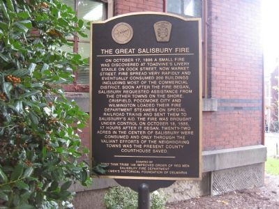 The Great Salisbury Fire Marker Photo, Click for full size