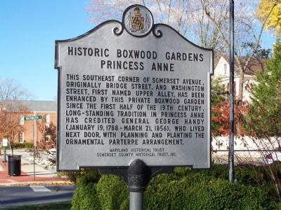 Historic Boxwood Gardens Princess Anne Marker image. Click for full size.