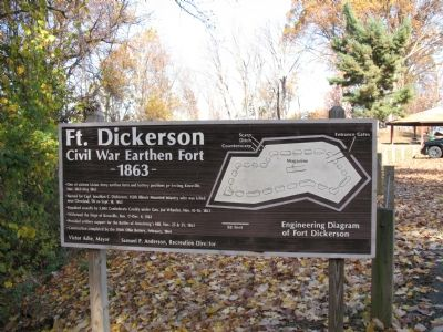 Fort Dickerson Marker image. Click for full size.