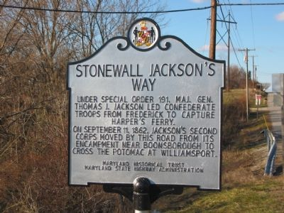 Stonewall Jackson's Way Marker image. Click for full size.
