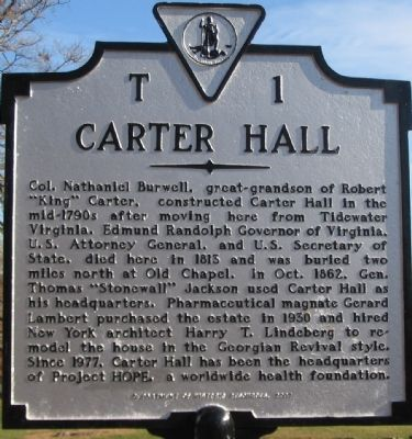 "The ""New"" T1 Carter Hall Marker Photo, Click for full size"