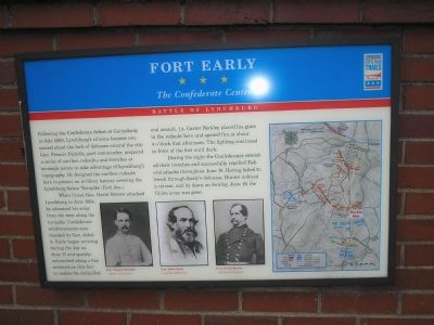 Fort Early Civil War Trails marker image. Click for full size.