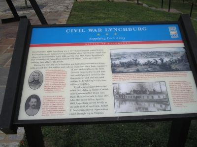 Civil War Lynchburg  -  Supplying Lee's Army Civil War Trails Marker image. Click for full size.