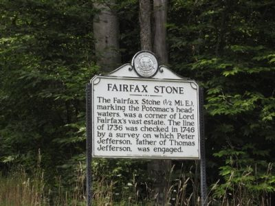 Fairfax Stone Marker Photo, Click for full size