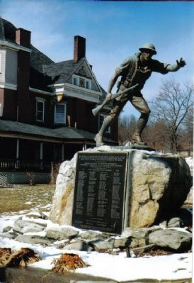 The Doughboy Monument at Curwensville, PA image. Click for more information.