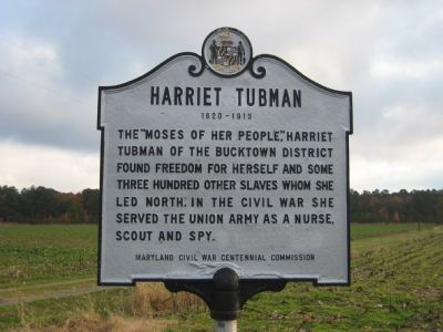 Harriett Tubman Marker Photo, Click for full size
