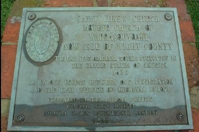 Saint Luke's Church Marker Photo, Click for full size