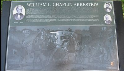 William L. Chaplin Arrested! Marker Photo, Click for full size