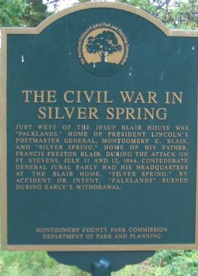The Civil War in Silver Spring Marker image. Click for full size.