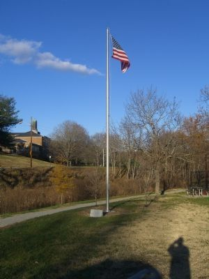 Fishburne Park Flagpole and Marker image. Click for full size.