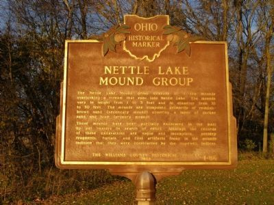 Nettle Lake Mound Group Marker (Obverse) image. Click for full size.