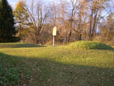 Three of the four Mounds and Marker image. Click for full size.