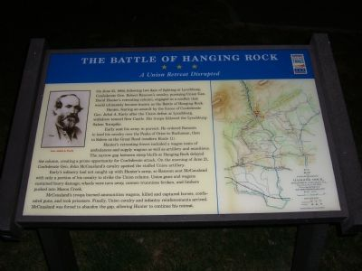 The Battle of Hanging Rock Marker Photo, Click for full size