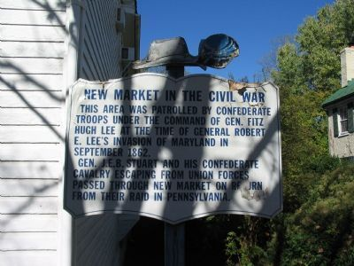New Market in the Civil War Marker image. Click for full size.