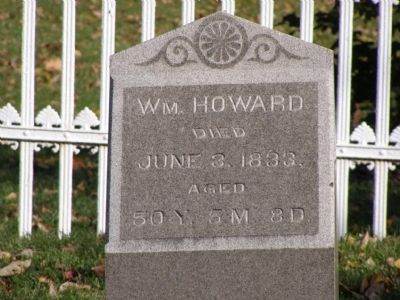 Gravestone of William Howard image. Click for full size.