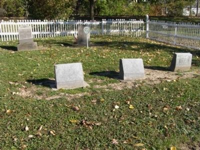 Gravestones in the Howard Cemetery image. Click for full size.
