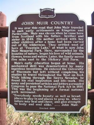 John Muir Country Marker image. Click for full size.