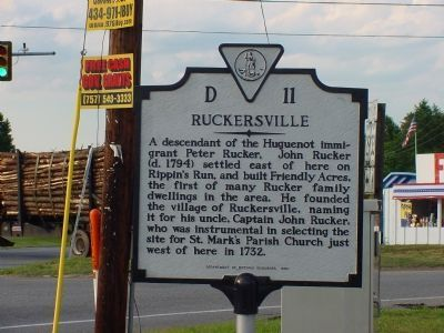 Ruckersville Marker image. Click for full size.