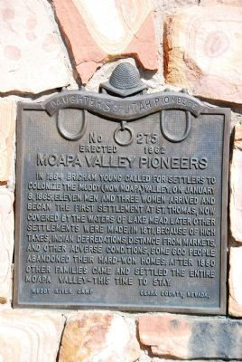 Moapa Valley Pioneers Marker image. Click for full size.