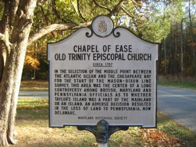 Chapel of Ease Old Trinity Episcopal Church Marker image. Click for full size.