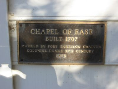 1975 Marker on Chapel image. Click for full size.