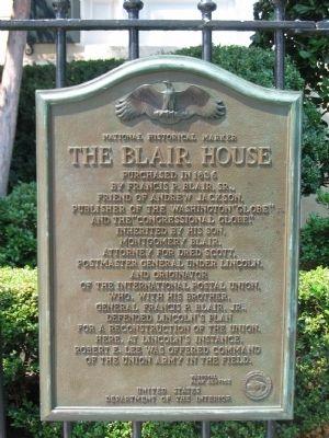 The Blair House Historical Marker