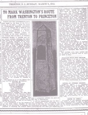 A 1914 Newspaper Article about the Marker. Photo, Click for full size