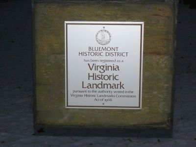Bluemont Historic District Marker Photo, Click for full size