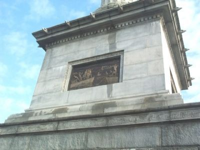 Eakins Bronze Plaque on the Left Side of the Monument image. Click for full size.