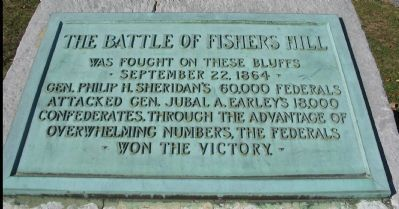 The Battle of Fishers Hill Marker image. Click for full size.
