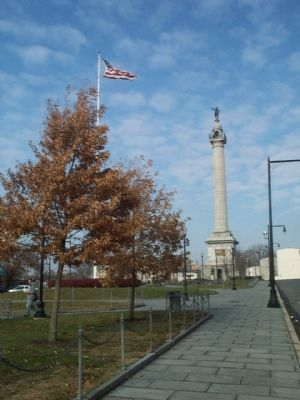 The Trenton Battle Monument and its Park. image. Click for full size.