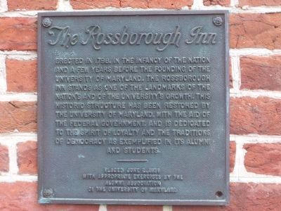The Rossborough Inn Marker Photo, Click for full size