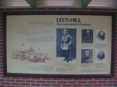 Lee's Hill, a commander's lookout Marker image. Click for full size.